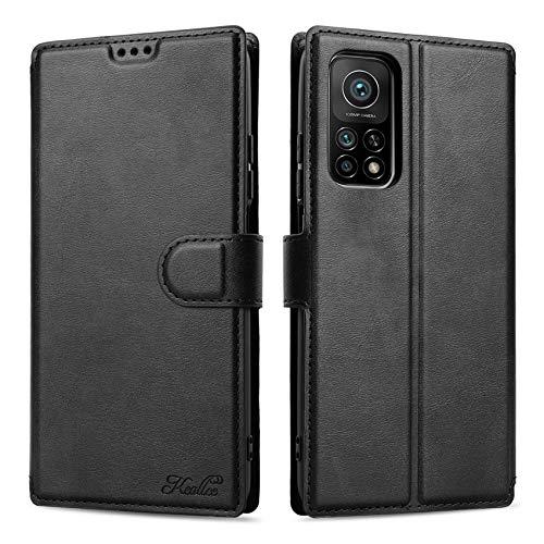 Keallce für Xiaomi Mi 10T Pro 5G Hülle, Handy Lederhülle PU Leder Hülle Brieftasche Handytasche Cover Kompatibel für Xiaomi Mi 10T Pro 5G Ledertasche-6.67