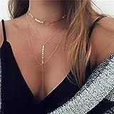 8m Nordvpn Simple Chapado en Oro Tassel Coin Bar Collar Clavícula Cadena Charm Joyería Plata*1 (H)