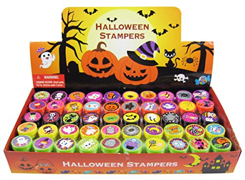 TINYMILLS 50 Pcs Halloween Assorted Stampers for Kids