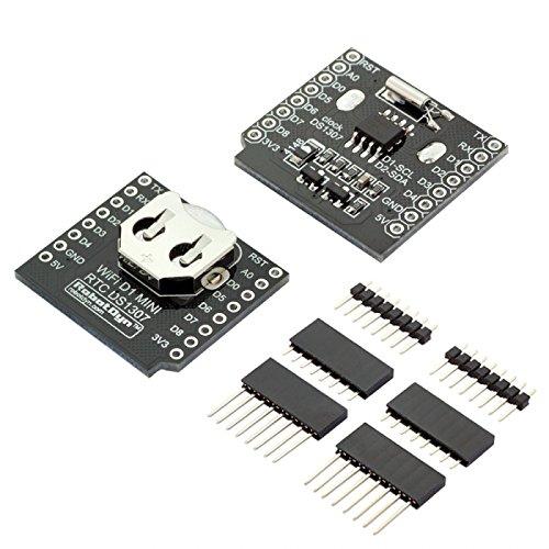 ILS - RTC DS1307 Real Time Reloj Batería Escudo con Conjunto de Conectores de Pin