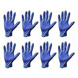 Milisten Guantes Desechables de Nitrilo de 40 Piezas Guantes de Examen Médico sin Polvo sin Látex Guantes Protectores Talla L (Azul)