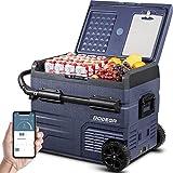 BODEGA 12 Volt Car Refrigerator, Car Fridge Dual Zone APP Control, Portable Freezer, 48 Quart (45L) -4℉-68℉ RV Electric Compressor Cooler 12/24V DC and 100-240V AC for Outdoor, Camping, Travel, RV