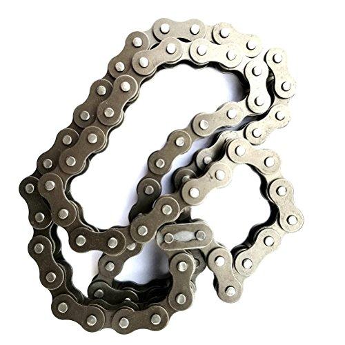 VORCOOL Fahrradkette 100 Glieder für 420 MTB Mountainbike Elektrisches Dreirad (Silber) - 3