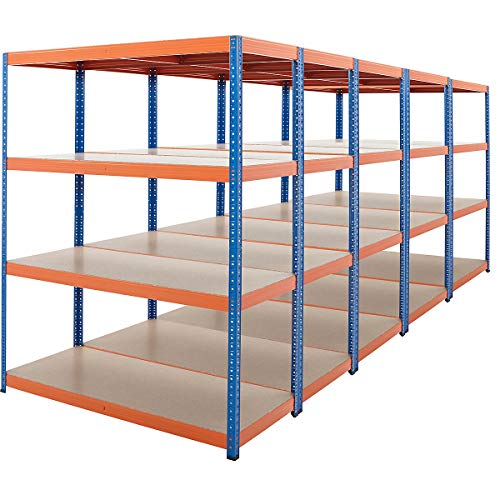 Certeo Mega Deal   5 estantes de alta resistencia   300 kg por estante   Estantería de metal Estantería de bodega Estantería de almacenamiento Estantería de taller Estantería de garaje