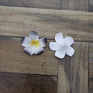 ShineBear HappyKiss10Pcs 4cm/5CM/6CM/7CM/8CM Plumeria Foam Frangipani Flower Artificial Silk Fake Egg Flower for Wedding Party Home