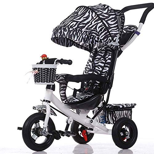 Best Review Of Yyqt Children's Tricycle, Infant Stroller Bicycle Shock Absorption Folding Multi-Func...