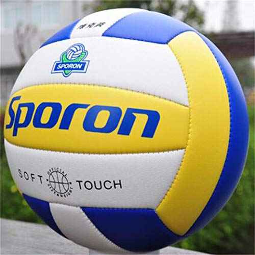 #N/A Volleyball Soft Touch Volley Ball Standard Size Soft Volleyball Beach Soft Touch Volleyball Outdoor Indoor Beach Gym Game Includes Ball Inflation Needle (Style 1)