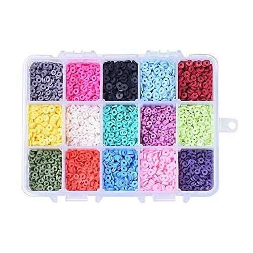 NTZ 1box 15 Colores 4 mm Ambiental Ambiental POLIMER Hecho POLIMER Clays Disco/PLANDO Redondo Redondo HEOSHI Corre para Las Mujeres Collar CRABAJA DE JOYERA Yc0504