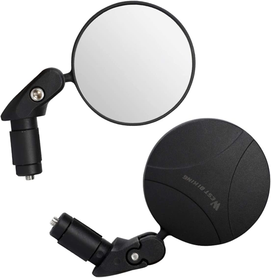 1 PC With Wide Angle Lens Safety Rearview Mirror HKBTCH Bar End Bike Mirrors,360/°Adjustable Rotatable Handlebar Convex Mirror for Mountain Road Bicycle Riding Cycling Accessories