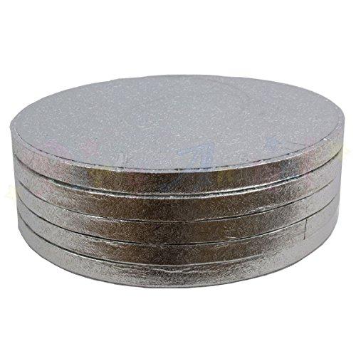 6 en rond tambour planches à cake 152 mm x 13 mm (lot de 5)