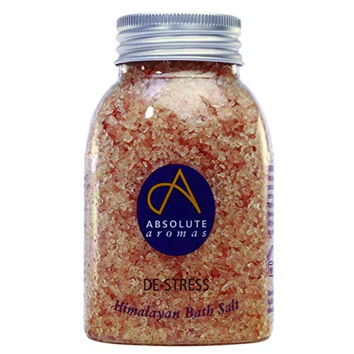 Absolute aroma's anti-stress badzout 290 g – natuurlijk, roze Himalayazout met 100% pure etherische oliën bergamot, ylang ylang, wierook en jasmijn voor ontspanning van de spieren.