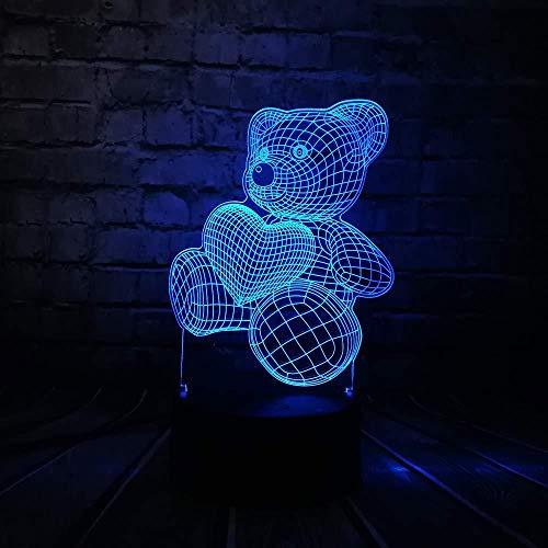 Nachtlicht baby teddybär hause liebe herz luftballon 3d usb led nachtlicht home home home home home kids spielzeug weihnachten gif t by my side