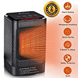 Ceramic Space Heater,MroTech 950W Portable Oscillating Electric Heater with Overheating Protection&Adjustable Heating&Carrying Handle,3