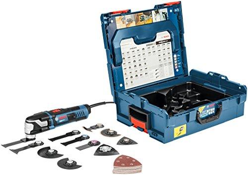Bosch Professional 0601231101 Multi-Tool GOP 55-36, Numero di Oscillazioni a Vuoto 8000 – 20.000 Giri/min, in Valigetta L-BOXX, 550 W, 230 V