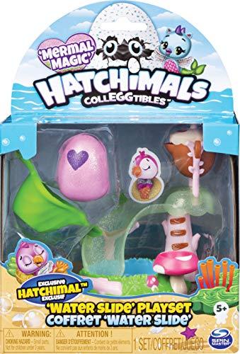 Hatchimals CollEGGtibles Spielset Wasserrutsche, mit exklusiver CollEGGtibles Mermal Magic Sammelfigur