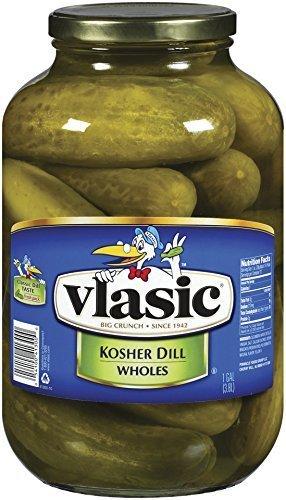 Vlasic Kosher Dill Whole Pickles, Keto Friendly, 4 - 128 FL OZ Jars