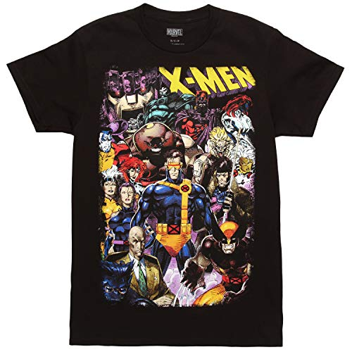 Mad Engine X-Men Comic Character Montage Adult T-Shirt -...