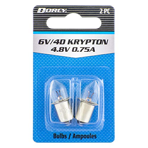 Dorcy 6-Volt/4D-4.8-Volt, 0.75A Bayonet Base Krypton Replacement Bulb, 2-Pack (41-1663)