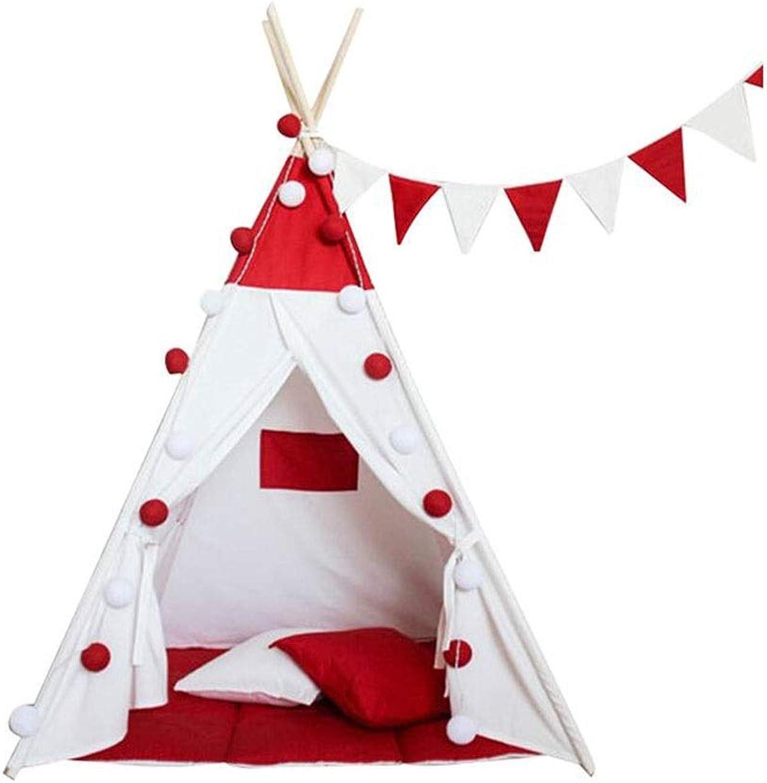 MuMa Tente De Jeux for Enfants portable Pliable Fille Et Garçon Toile Blanche Jouet De Maison Jeux Intérieurs Et Extérieurs (Couleur   rouge)