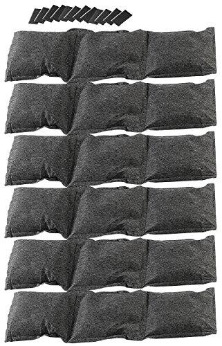 Lescars Entfeuchter Säckchen: 6er-Set Luftentfeuchter (6x750g), teilbar und abtropfsicher (Luftentfeuchter Säckchen)