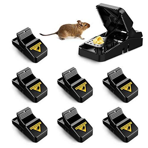 Profi Mausefalle, 8 Stück Mäusefalle Wiederverwendbar,Rattenfalle Einfaches Hygienisch in Haus Garten Drinnen Draußen, Leistungsstark, Einfach zu Bedienen, Effizient, Schnell Tötend