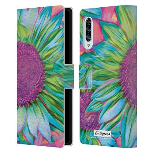 Head Case Designs Licenciado Oficialmente P.D. Moreno Girasol Diseño Surtido Carcasa de Cuero Tipo Libro Compatible con Samsung Galaxy A90 5G (2019)