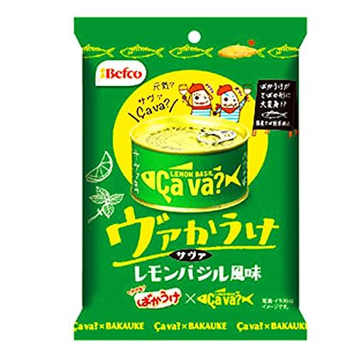 栗山米菓 ヴァかうけ レモンバジル風味 52g ×10袋