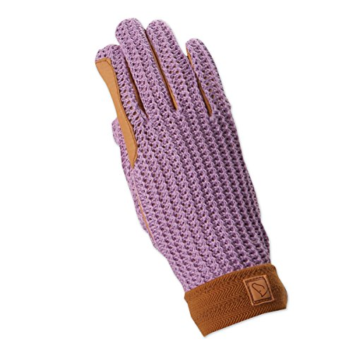 SSG Lycrochet Ultraflex Riding Gloves Ladies/6 Natural/Natural