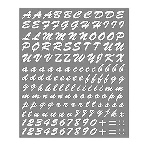 4R Quattroerre.it 1232 Kit Letras Adhesivas Componibles, Blanco, 20 x 24 cm