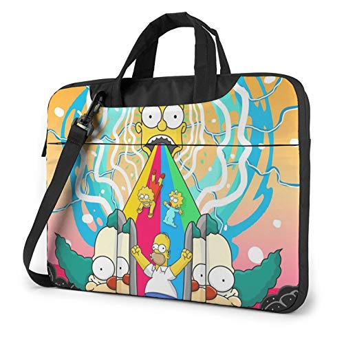 NDSXTLCA The Simpsons 17.3-Inch Laptop Shoulder Sleeve Bag Case with Handle for 17 17.3' Acer Dell Hp Classic Colorful 13 inch