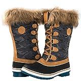 GLOBALWIN Women's 1837 Camel Winter Snow Boots 8M