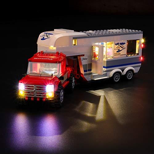 LIGHTAILING Licht-Set Für (City Pickup und Wohnwagen) Modell - LED Licht-Set Kompatibel Mit Lego 60182(Modell Nicht Enthalten)