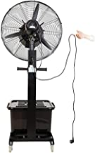 Standing Pedestal Fan Commercial High-Velocity Outdoor Indoor Mist Fan Black Industrial Cool, Free Tax, Pedestal Fan,Industrial Humidifying and Cooling Spray Fan with Water Cooling for Home, Commerc
