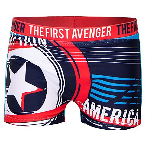 Costume Mare Boxer Parigamba da Bagno Captain America Avengers Marvel (Azzurro 1869, 10 Anni)