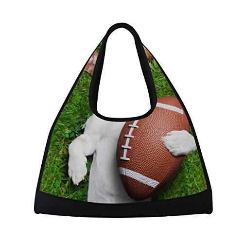 TIZORAX American Football Hund Duffle Reisetasche Sport Gym Bag Umhängetasche