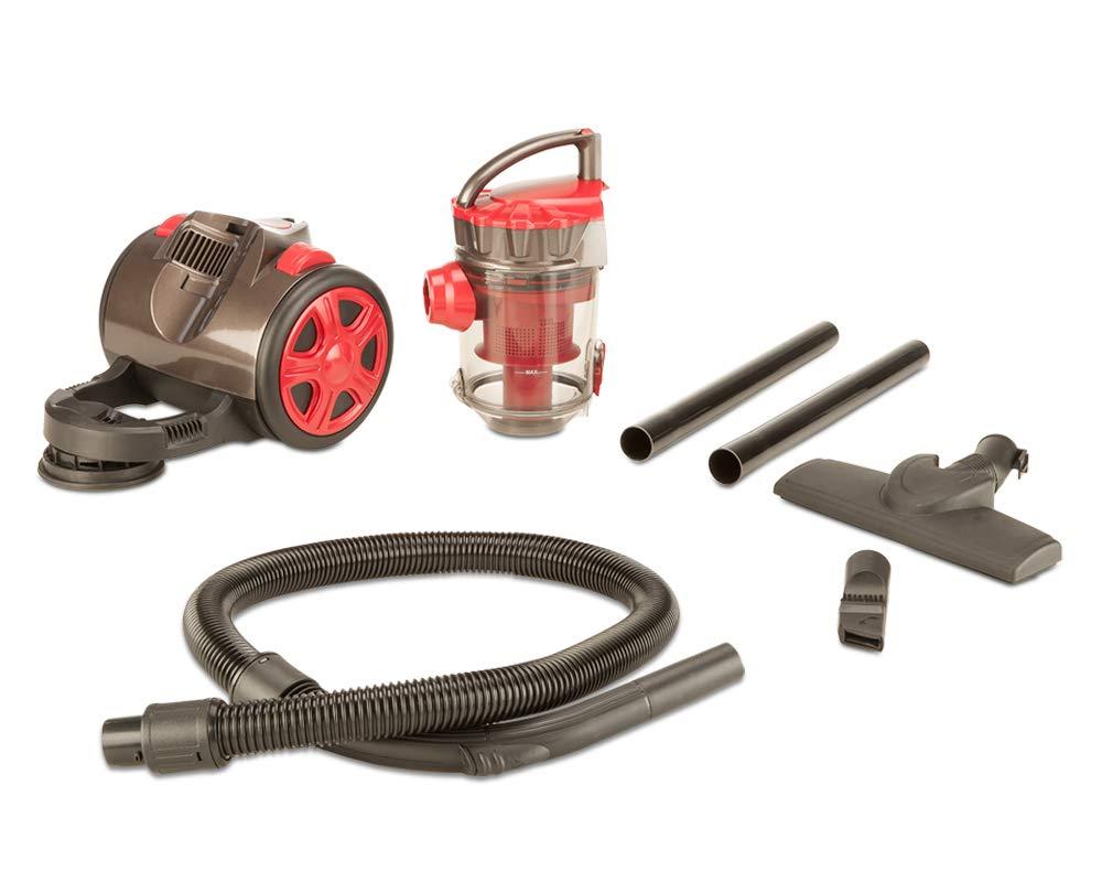 SAMBA Aspirador Trineo sin Bolsa con Sistema Ciclónico, Depósito de 2L, Filtro HEPA con 4 Etapas de Filtrado, 2 en 1 Cepillo y Boquilla para Ranuras, Sistema No-Touch, Fácil de Limpiar: Amazon.es:
