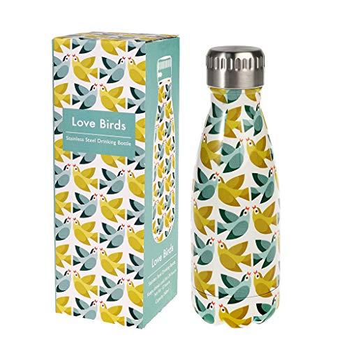 Rex London Edelstahl Thermosflasche Love Birds - Trinkflasche isoliert -...