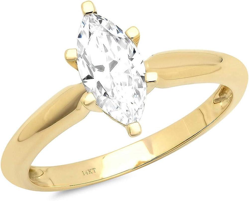 1.5ct Marquise Brilliant Cut Designer Ranking TOP1 Classic Max 60% OFF Solitaire Wedding