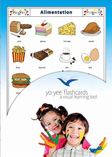 Yo-Yee Flashcards Grandes Cartes Images pour l'Encouragement linguistique - Alimentation - pour l'enseignement de l'français à la garderie, au Jardin d'Enfants et à l'école Primaire