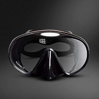 XY SwimmingGoggles - Snorkeling Sambo Equipment Adult Black Rubber Diving Goggles Swimming Swimming mask Three Treasure Equipment Water Sports Glasses (Color : Black)