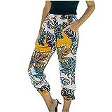 Pantalón Mujer Verano Tallas Grandes Pantalones Deportivos Cintura Harén Elástica Cintura Alta Estampados Casuales Pantalones Rectos Deportivos Sueltos Pants Adecuado para Hogar Uso Diario