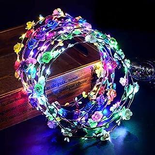10pcs Garland Stirnband Dekorative Leucht 10 LEDs Böhmen Blume Led Blumenkranz