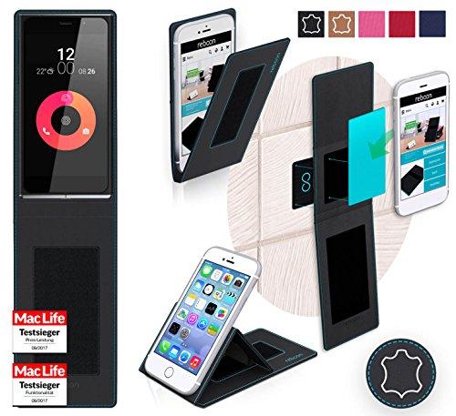 Hülle für Obi Worldphone SF1 Tasche Cover Hülle Bumper | Schwarz Leder | Testsieger