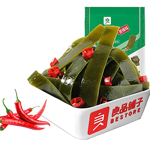 Liangpinpuzi Spicy Cheap SALE Start Kelp Shredded half Snacks Seaweed 218gà Chips