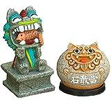 J.Mmiyi Feng Shui Decoracion Estatua de Resina, Gandang De Piedra Y León del Viento Figura Escultura Buena Suerte Mascota Adorno,A