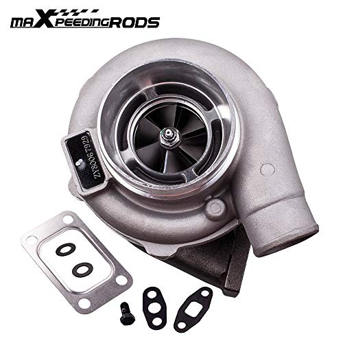 maXpeedingrods GT30 GT3037 Turbo Charger T3 Flange 4-Bolt 500+HPS, 0.82 A/R Turbine Water&Oil, Universal GT3076 Turbocharger for all 6/8 cyl 3.0L-5.0L engine