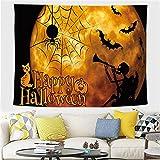 YYRAIN Halloween Tapiz Hogar Arte De La Pared Decoración Bar Banquete Fondo Pared Mantel Multifuncional 59x39 Inch{W150xH100cm}