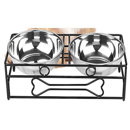 NNuodekeU RVS Hond Bowls met IJzeren Stand, Voedsel en Water Hond Bowl, Huisdier Feeder voor Hond/Cat