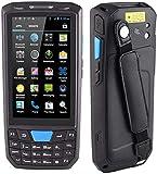 Escáner PDA, Terminal de mano resistente de Android 7.0 con el escáner de código de código de barras de Honeywell de 2D, cámara de 8.0MP, pantalla táctil 4.5in, teclado numérico, 4G BT WiFi GPS para e