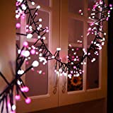 Yinyimei Guirnalda Luces Luces de la Secuencia del Globo LED de 10 pies / 3M 400 LED Ball petardo Luz de 8 Modos a Prueba de Agua for la Navidad del Banquete de Boda de Vacaciones